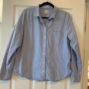 J. Crew boyfriend style chambray shirt